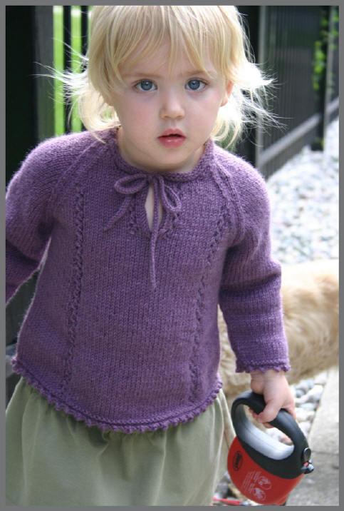 mor renkli çocuk kazağı modeli